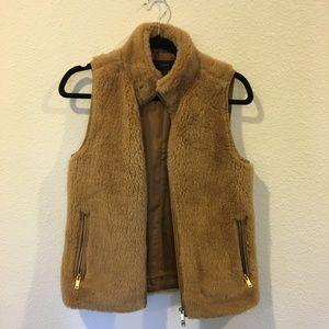 J. Crew Jackets & Coats - J. Crew brown plush fleece excursion vest